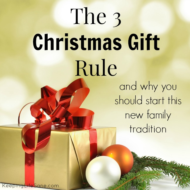 The 3 Gift Rule - Keeping Life Sane
