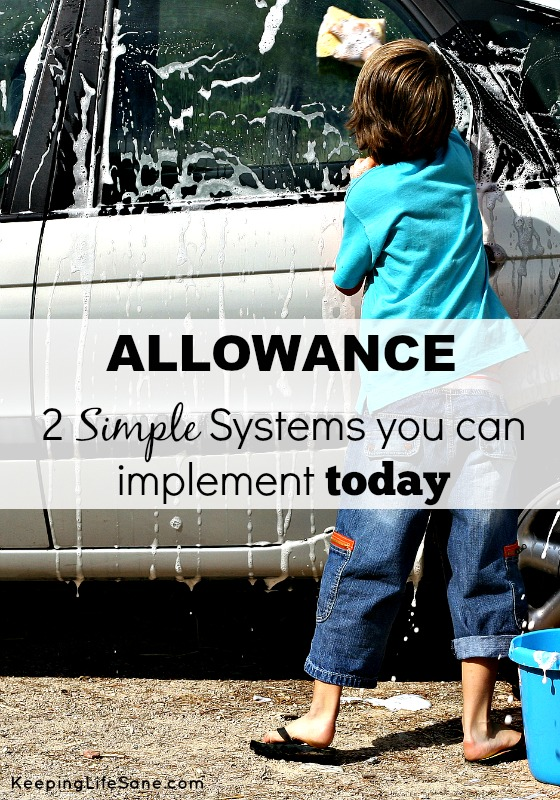 Allowance: 2 Simple Systems You Can Implement Today