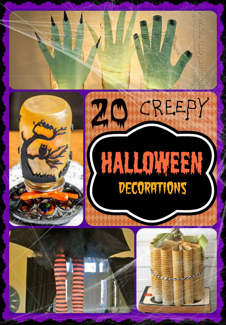 B - 20 Halloween Decorations - Words