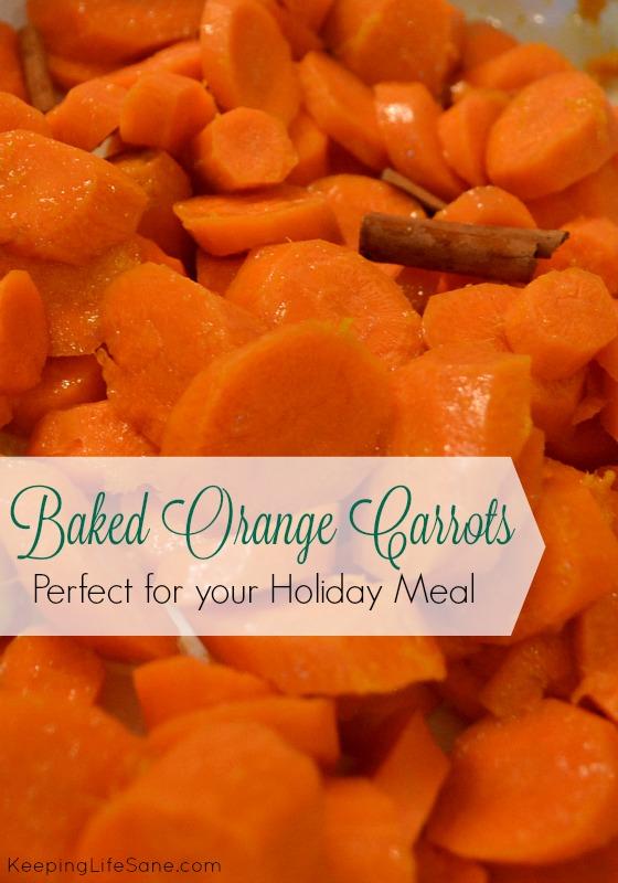 Baked Orange Carrots