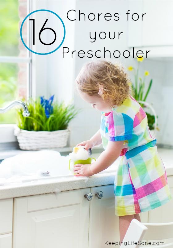 16 Chores for your Preschooler
