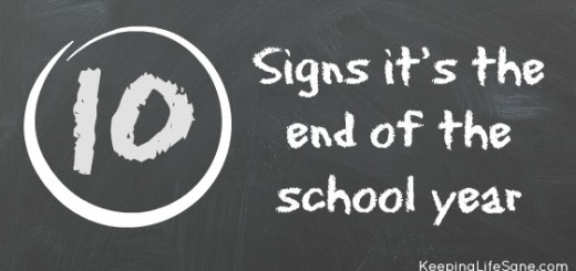 10 signs it's the end of the school year