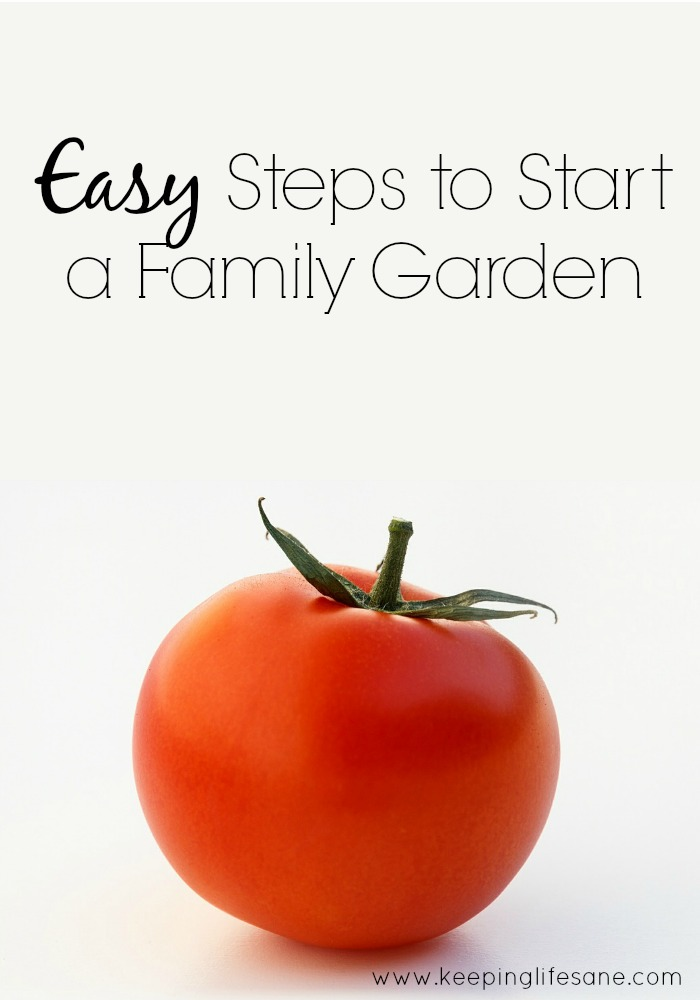 Easy steps to start a family garden.  Read now to start planning today.