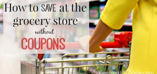 How to save money at the grocery store without coupons.