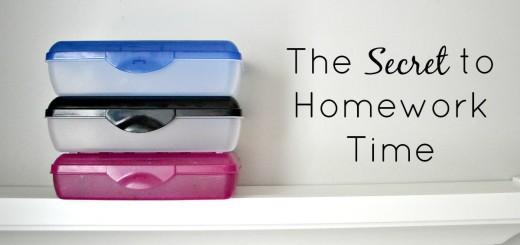The Secret to Homework Time