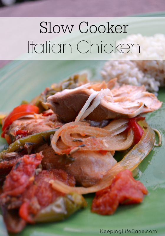Slow Cooker Italian Chicken