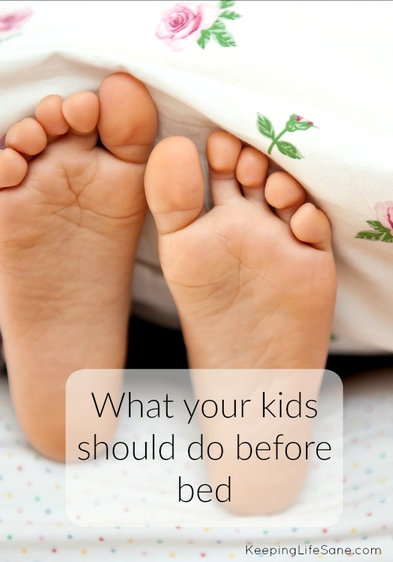 What your kids should do before bed