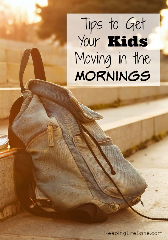 Tips to get your kids moving in the morning