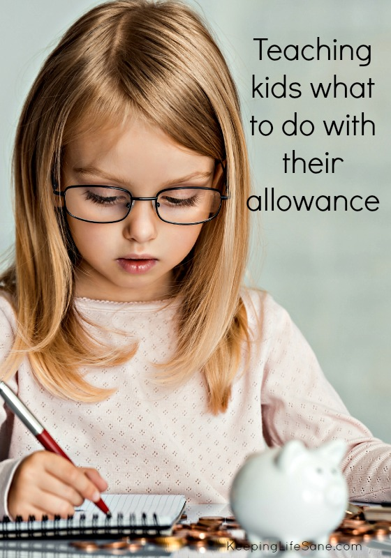 Teaching Kids what to do with their allowance