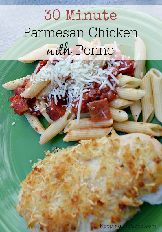 This meal may look like it takes a long time, but it only takes 30 minutes and is delicious! My kids ate it up.