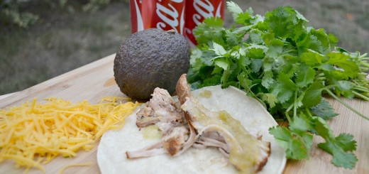 Slow Cooker Pork Carnitas- Perfect for Game Day (and a super cute decoration!!)