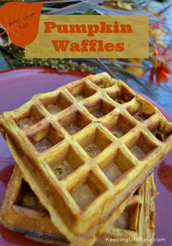 Homemade Pumpkin Waffles