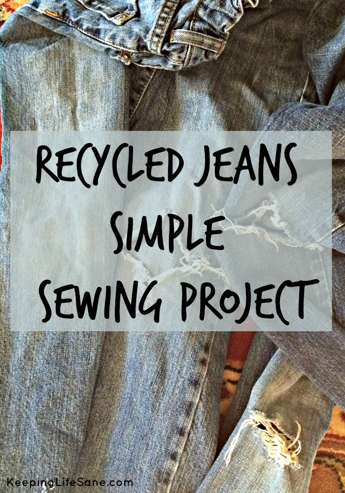 Recycled Jeans Simple Sewing Project