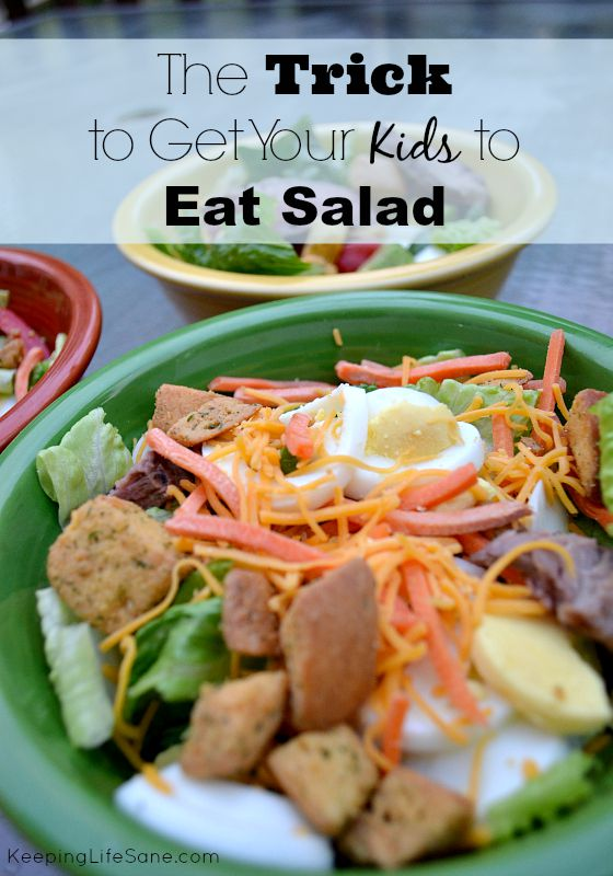 My kids love salad now, but it didn't use to be that way. Try this trick and your kids will eat it!