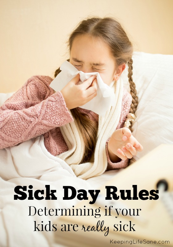 Sick Day Rules
