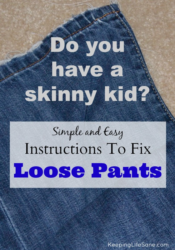 How to sew the waist on pants for skinny kids