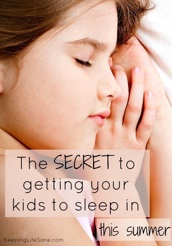 The secret to getting your kids to sleep in this summer