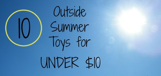 Outside Summer Toys