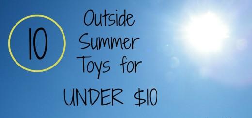 Outside Summer Toys