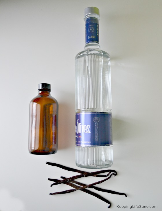 vanilla beans and vodka