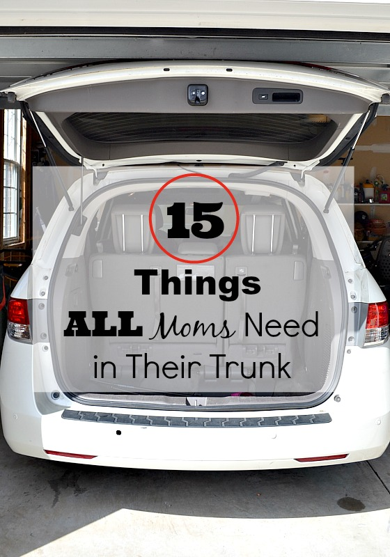 Here are the 15 things moms need in their car. I always keep these handy because you never know when you'll need them! How many do have?