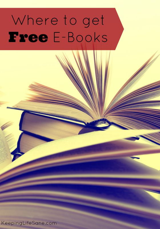 Don't you just love free things? Here are a few sites to get free e-books.