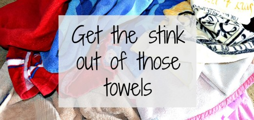 Getting the smell out of moldy towels naturally