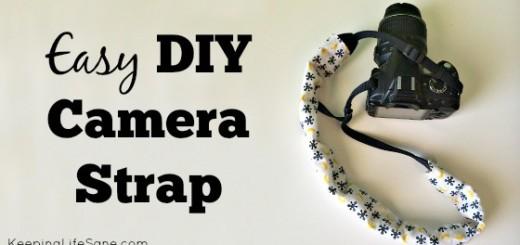 Easy DIY Camera Strap