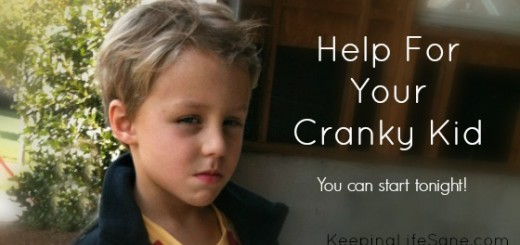 How I stopped my kids from being cranky!