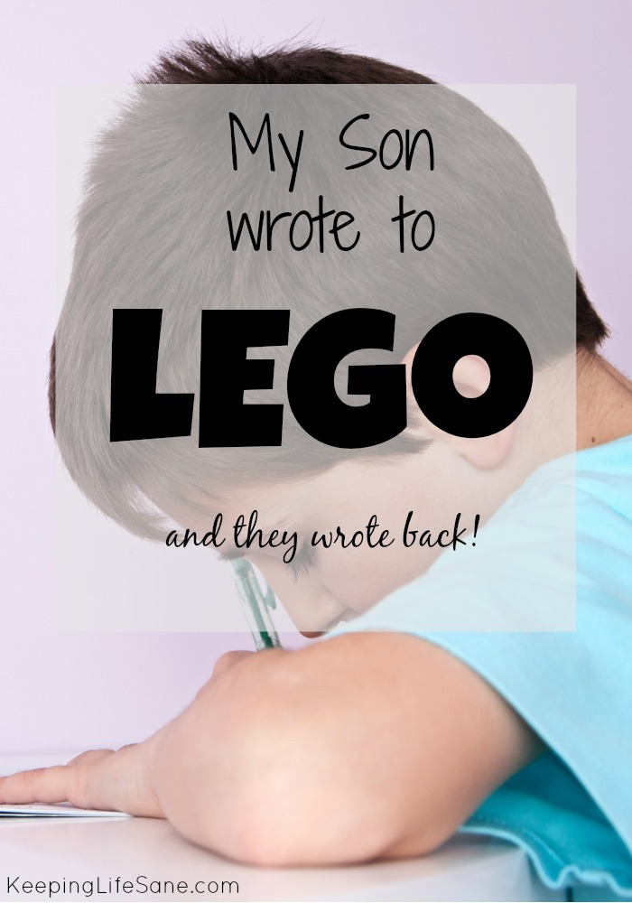 My son wrote to Lego and they wrote back!