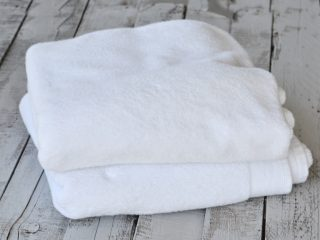 Stack of two white towels