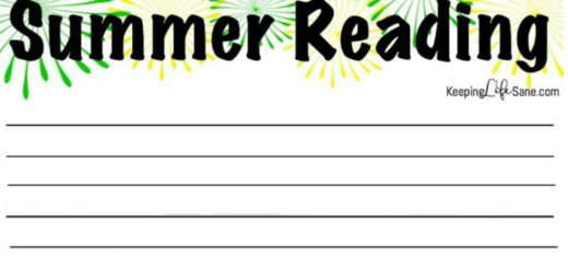 Summer Reading Log
