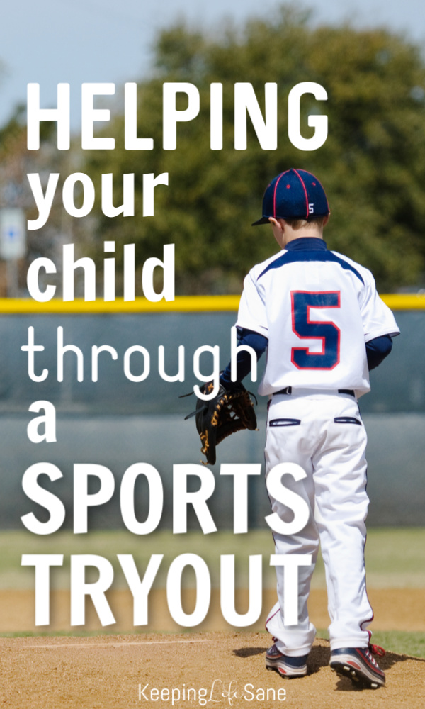 If your child plays a sport, then he or she will eventually have to try out for a team. Here's a few things you can do to help them get through it. #parenting #parentingtip #Tryouts #sportstryout #Sportsmom #baseballmom #footballmom #Soccermom #boymom #youthsports #Girlmom