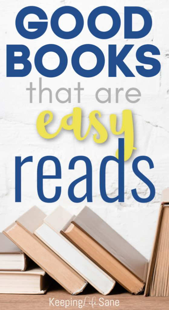 I love to read, but it's hard to find easy books when you're busy doing mom things. Here's a great list of books that are easy to read for busy moms. #BookLover #EasyBooks #EasyBookstoRead #Busymoms #ebooks