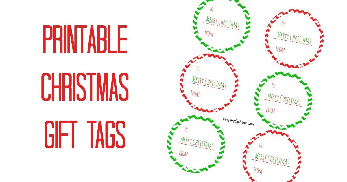 Free printable christmas gift tags keeping life sane negle Gallery