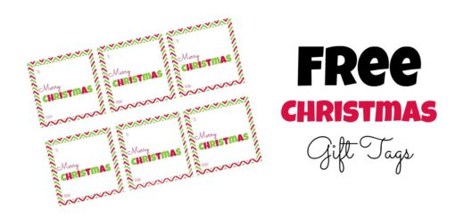 FREE Printable Christmas Gift Tags- Square