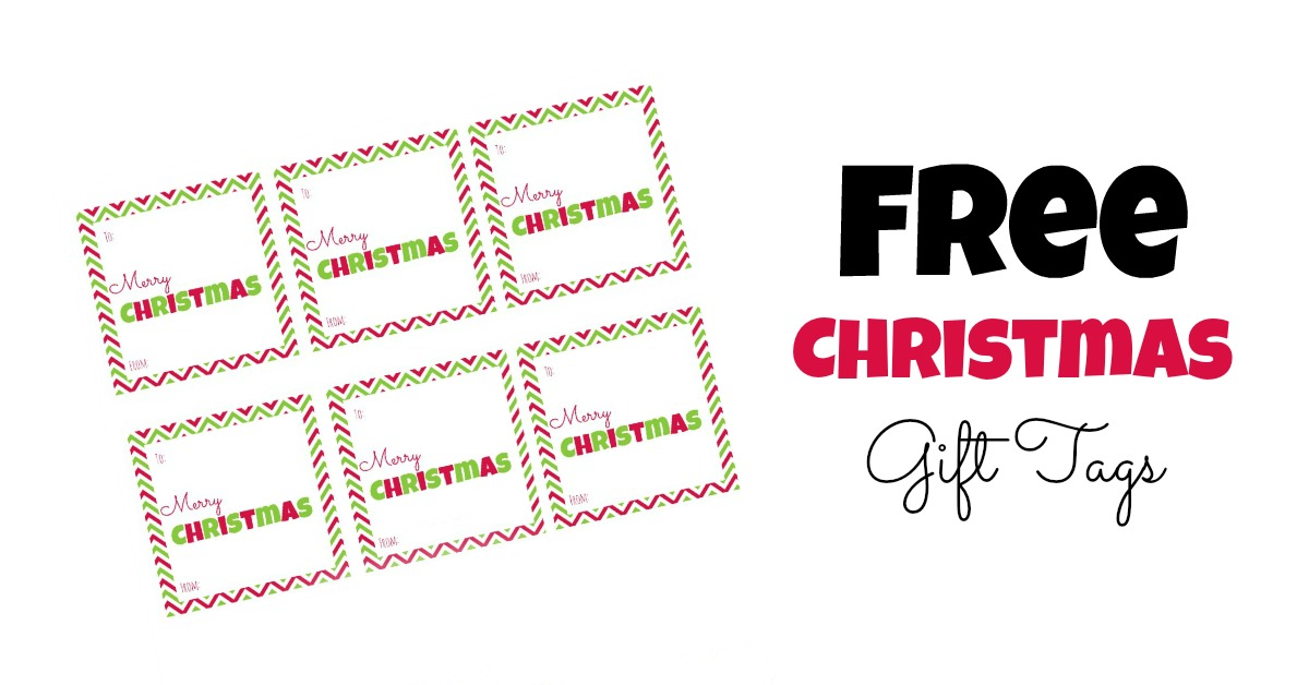 free christmas gift tags- printable squares