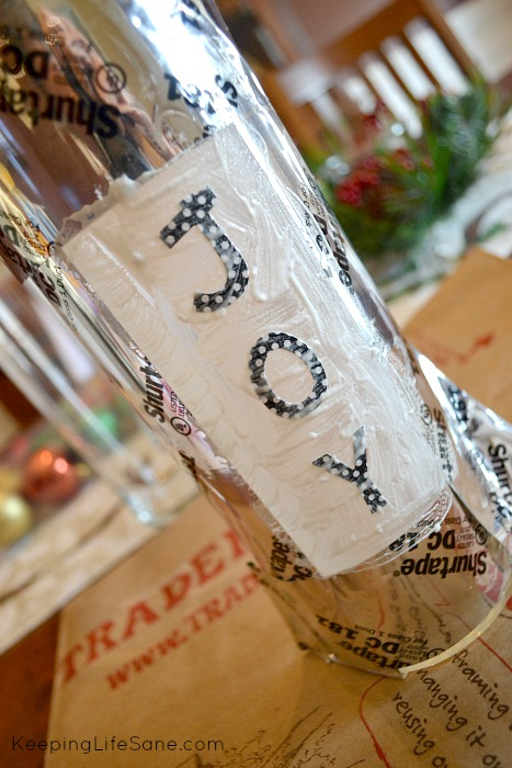 Etched Glass Christmas Decoration