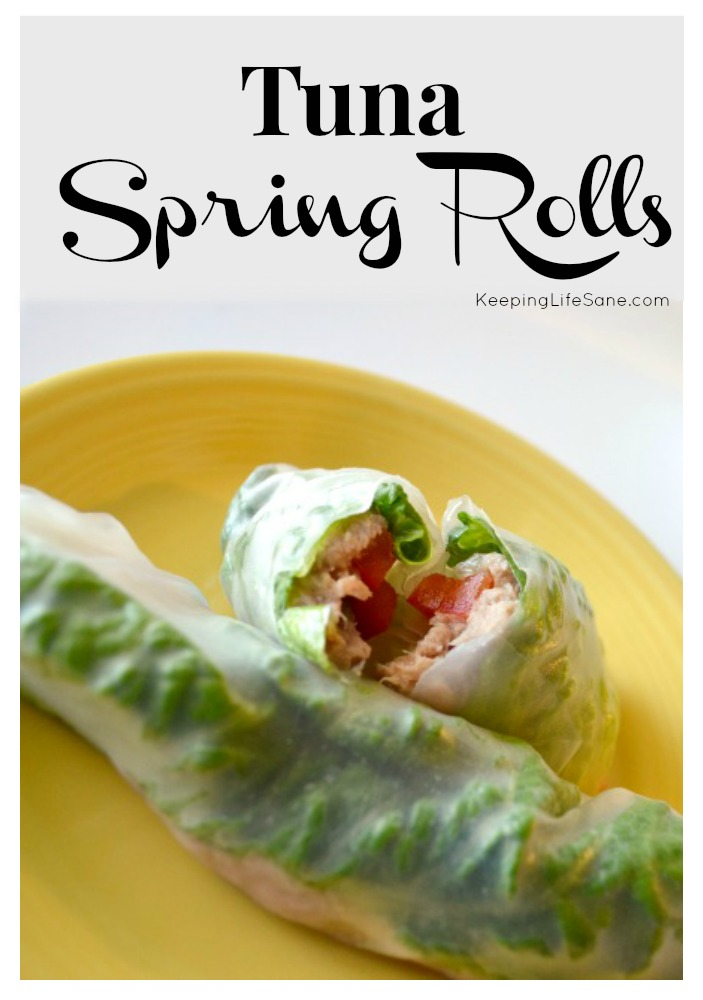 Instead of take-out, try making these delicious tuna spring rolls.