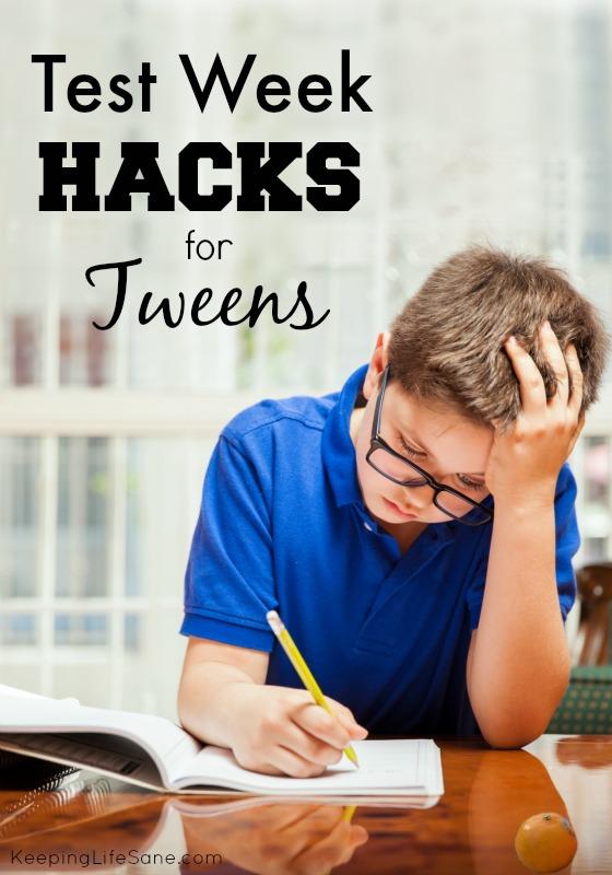 Test Week Hack for Tweens