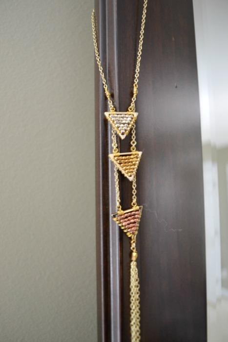 Serra Triple Triangle Tassel Necklace