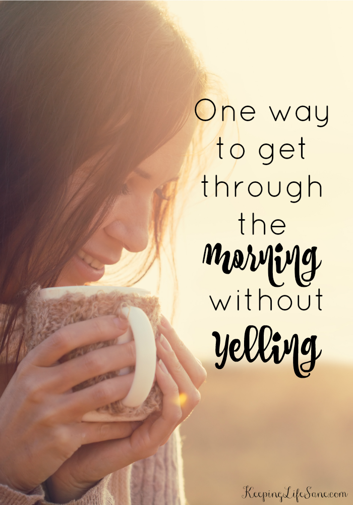 The BEST tip for getting through the morning without yelling
