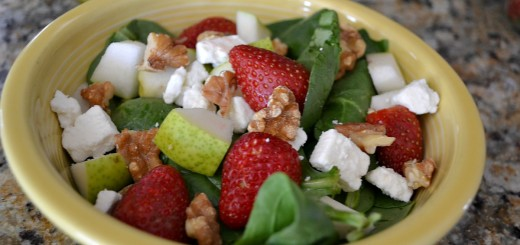 Spring Spinach Salad + Poppy Seed Dressing