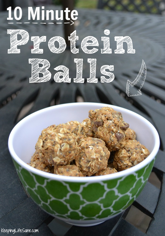 green bowl filled with protein balls