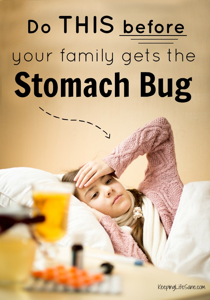 This is the best stomach bug tip EVER! You'll want to do this before it hits your family. It makes things MUCH easier to handle all the sickness! #stomachbug #Stomachflu #Sickfamily #Stomachbugtips