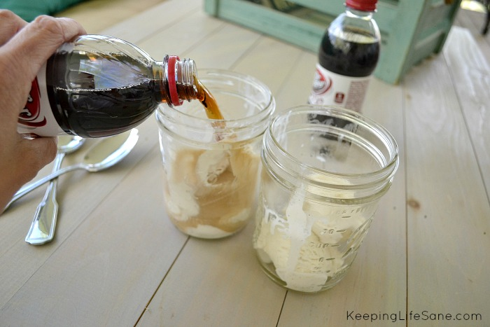 Diet Dr Pepper Ice Cream Float
