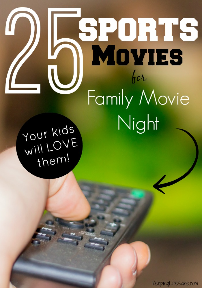 Here are some great sports movies for family movie night. Some are old, new, funny, or inspiring, but you and your kids will love watching them together.