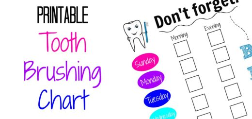 Printable tooth brushing chart for kids