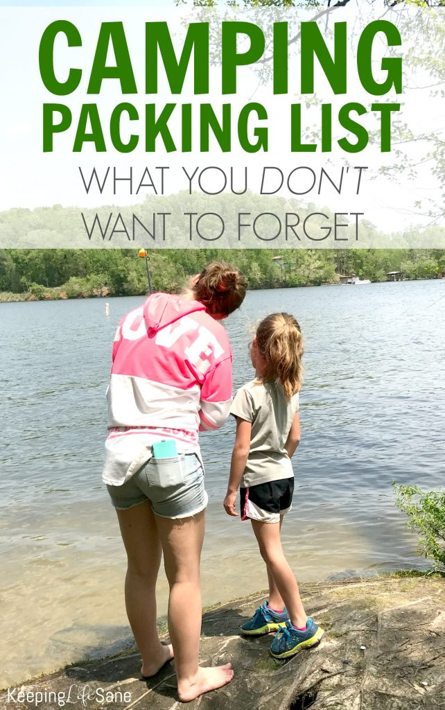 You may be wondering what to bring when you go camping. Here's a great camping packing list that's filled with items that you don't want to forget and they will make your like so much easier!!