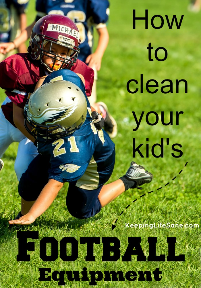 How to clean your kid's football equipment